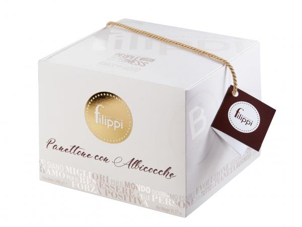 Panettone with apricots in B-Corp box