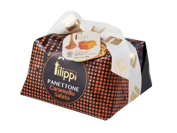 Panettone with salted caramel