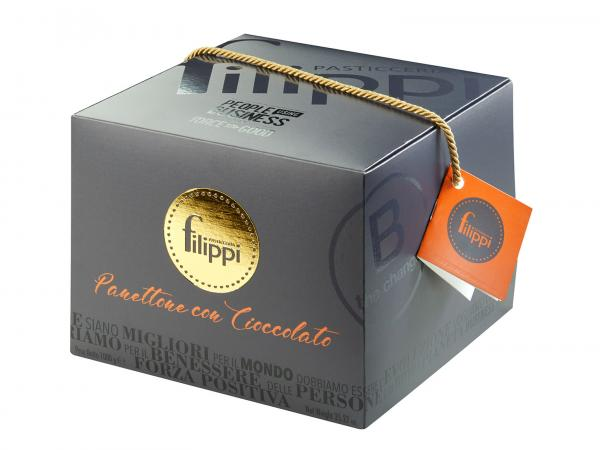 Panettone with chocolate in B-Corp box
